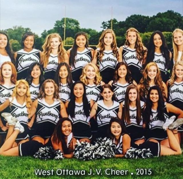 Highlighting the JV Sideline Cheer Team
