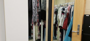 Students without a homecoming dress should check out Howard's dress closet