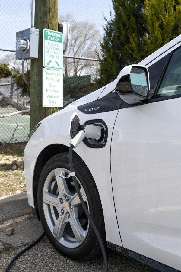 The 75th Civil Engineer Group Environmental Branch recently acquired a new electric hybrid vehicle, the 2018 Chevrolet Volt for their government vehicle.