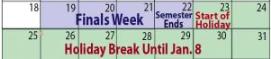 WO should schedule exams before break