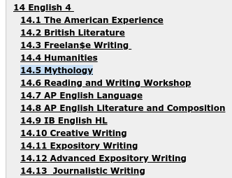 Mythology: An excellent choice for English credits
