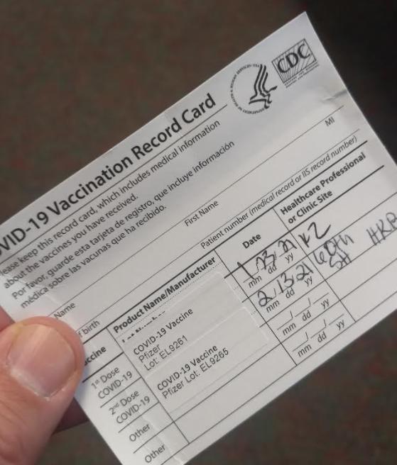 High school teachers receive second vaccine dose