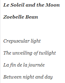 2021 Poet Laureate:  Zoebelle Bean