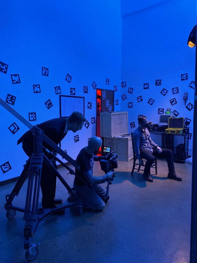 Alex filming in his studio