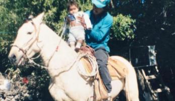 Juan Hernandez with his son Juan Hernandez Jr.